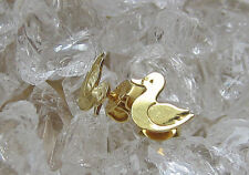 wow☺Ente Ohrringe Goldherzen aus 14kt 585 Gold Ohrstecker Enten Entchen Ohrringe