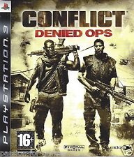 CONFLICT DENIED OPS for Playstation 3 PS3 - with box & manual