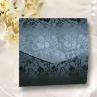 SQUARE POCKETFOLD INVITES WHITE TEXTURED GESSO CARD /& MATCHING ENVELOPE /& INSERT