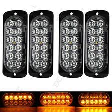 4x12LED Amber Light Emergency Warning Strobe Flashing Car Truck Bar Hazard Grill