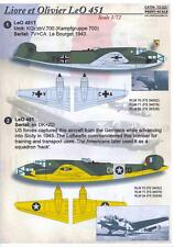 Print Scale Decals 1/72 LOIRE et OLIVIER LeO 451 French WWII Bomber