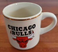 Vintage Chicago Bulls NBA Basketball Beige Ceramic Coffee Mug Cup