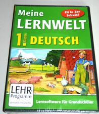 MEINE LERNWELT: GRUNDSCHULE DEUTSCH KLASSE 1 PC MAC NEU Lernsoftware Homeschool
