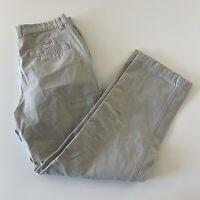 Columbia Flat Front Khaki Beige Chino Pants Men's 34 100% Cotton