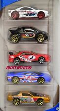 HOT WHEELS 5 CAR PACK FLAG FLYERS JAPAN NISSAN SKYLINE VW JAGUAR W+