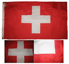 3x5 Embroidered Sewn Switzerland Swiss 300-D Nylon Flag  With Clips