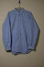 Ralph Lauren Men's Size 16 100% Cotton Multi-Color Striped Oxford Dress Shirt