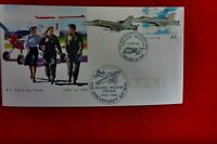 75TH ANNIVERSARY AIR MAIL MINLATON ADELAIDE CARRIED BACK STAMPED CACHET PSE