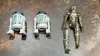 Vintage Star Wars Figures lot - C-3PO, R2-D2 x 2 1977 and 1982