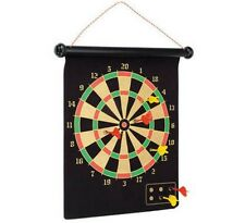 "16"" Magnetic Dart Game Set 6 Darts 2 sided board Indoor Outdoor Game"