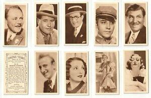 UKTC 1934 Set 50 Cinema Stars  the new Talkie Stars + a few survivors (F100)