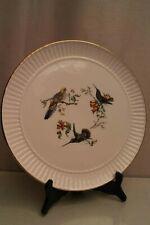 Grand plat à tarte plat à gâteau en faïence de Gien, décor aux oiseaux