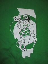 LARRY BIRD Boston Celtics ILLINOIS (LG) T-Shirt LEPRECHAUN