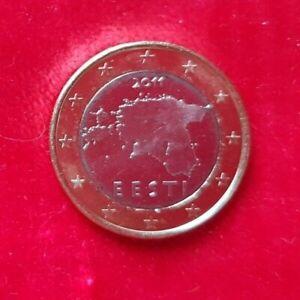 1 Euro ESTONIE 2011 la Carte Premère pièce de circulation  UNC  PROMO JUILLET!!