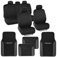Car Seat Covers fits Rear Split Bench w/ Tribal Floor Mats PU Leather Trim
