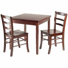 Winsome Pulman 3 Piece Extendable Dining Set in Walnut