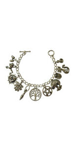 Pagan Wiccan 11 Charm Bracelet - Silver Plated