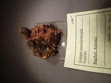 Copper pseudomorph Cuprite Bagdad Arizona Circa 1960's