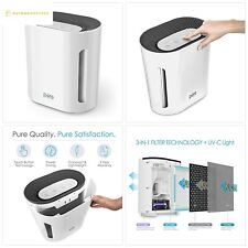 Pure Enrichment PureZone 3-in-1 True Hepa Air Purifier - 3 Speeds Plus Uv-C Air