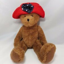 Boyds Bear Plush Collect 1988 - 2004 Red Hat Society Bear R. H. Lotsafun Stuffed