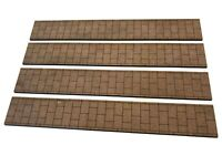 4 x LASER CUT MDF PAVEMENT STRIPS FOR OO SCALE 1:76 MODEL RAILWAY - LX217-OO