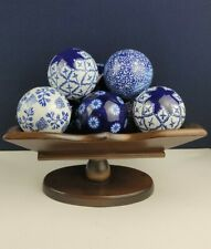 Cornwall Wood Products Wooden Pedestal Fruit Bowl