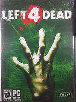 Left 4 Dead PC  DVD-ROM software. Used, Good Condition. Mature 17+