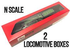 2 x Locomotive Display or Storage Box N Scale for Graham Farish Lima Dapol etc