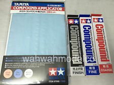 Tamiya Polishing Compound Coarse, Fine, Finish + 87090 Applicator combo set