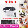 9 IN 1 Kitchen Assist Slicer Vegetable Cutter Potato Onion Grater Chopper Carrot