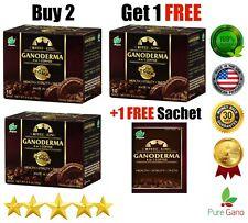 PureGano Ganoderma Cafe Latte Infused w/1800mg Ganoderma Extract 1 Box 10 Sachet