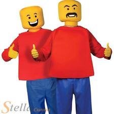 Morphsuit Kids Mr Blockhead Novelty Childs Fancy Dress Costume & 3 Face Stickers