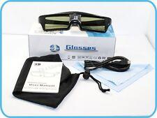 lunettes 3D rechargeables Active Shutter pour BenQ W1070 DLP Optoma 3D GT750e
