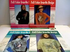 4 Craft Full Color Iron On No Painting Required Patterns for Sweat and T-Shirts