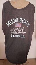 MIAMI STYLE MIAMI BEACH FLORIDA USA SLEEVELESS SHIRT SZ 2XL XXL