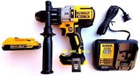 New DeWalt DCD996 20V Brushless Hammer Drill, 1) DCB203 Battery 20 Volt, Charger
