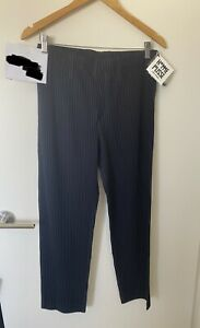 Issey Miyake Homme Plisse Pleated basic Trousers Navy JF150 Size 2