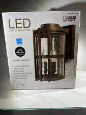 Feit Electric Outdoor Led Lantern Dusk to Dawn 11 W 1000 Lumens (No Glass)
