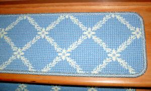 13 = Step 9'' x 29'' + Landing 21'' x 29'' Tufted carpet Wool  Stair Treads .
