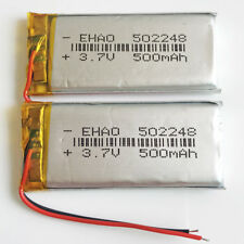 2 pcs 3.7V 500mAh Li po Rechargeable Battery 502248 For Mp3 GPS MP4 PSP Speaker