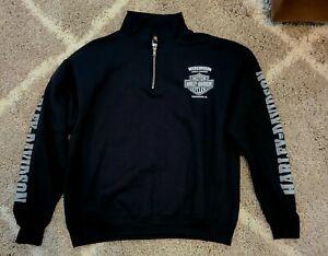 Details about  /Harley Davidson Men/'s Quarter Zip