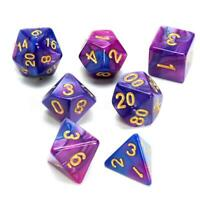 7 PCS/Set Dungeons & Dragons MTG Polyhedral Game Dice Two-Color DND RPG