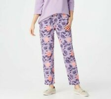 Denim & Co. Active Printed French Terry Pants