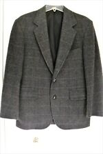 PENDLETON Pure Virgin Wool Blazer Gray Plaid Made in USA Sz 38 PRICE DROP! EXC!