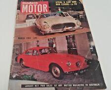 Mar 1955 MODERN MOTOR Mag FIAT 1100 VW Vauxhall E Vagabond