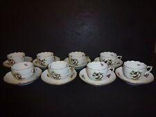 Herend Rothschild Bird Set of 8 Demitasse Cups/Saucers - Retail $1,520