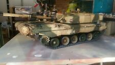heng long 1/16 abrams, challenger rc model tank custom painted