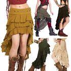Boho Steampunk Skirt, Psy Trance Clothing, Festival Skirt, Goa Pixie Hippy Skirt