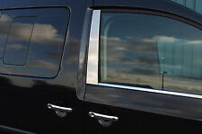 CHROME SIDE WINDOW DOOR B PILLAR TRIM SET COVERS FOR VW VOLKSWAGEN CADDY 2004-15