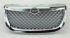 Chrome Honeycomb Mesh Front Bumper Hood Grill Fits Chrysler 300M 99-04
